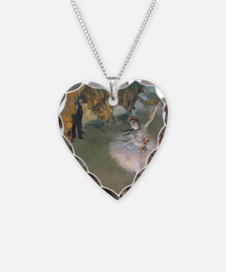 The Star by Edgar Degas Necklace Heart Charm