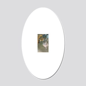 The Star by Edgar Degas 20x12 Oval Wall Decal