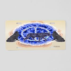 Enigmatic Wolf Aluminum License Plate