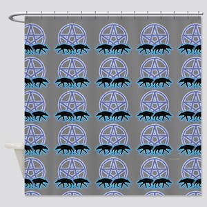 Wolves Pentacle Shower Curtain