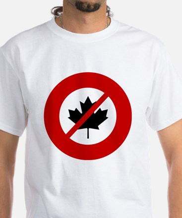 no-canadians White T-Shirt