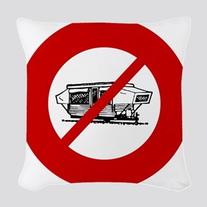 no-campers Woven Throw Pillow