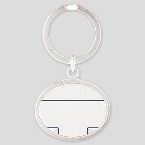 Writer Vest Oval Keychain
