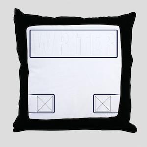 Writer Vest Throw Pillow