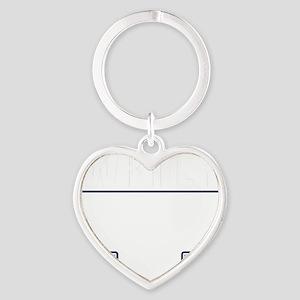 Writer Vest Heart Keychain
