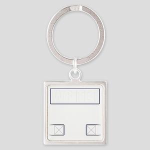 Writer Vest Square Keychain