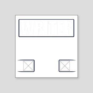 "Writer Vest Square Sticker 3"" x 3"""