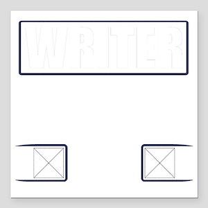 "Writer Vest Square Car Magnet 3"" x 3"""