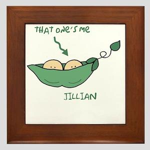 peapod2 that ones me Jillian below pod Framed Tile