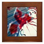 9/11 Liberty Framed Tile