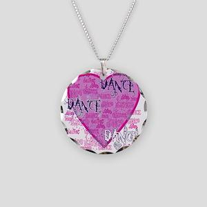 dance dance dance purple tex Necklace Circle Charm