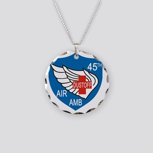 45th Medical Dustoff Patch Necklace Circle Charm