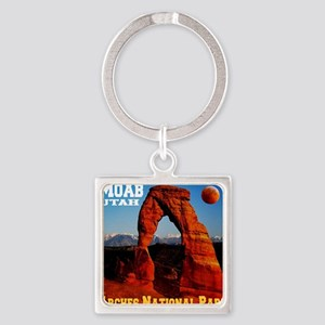 arches_np_eclipse2 Square Keychain