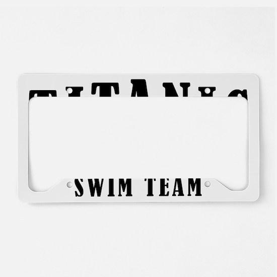 Titanic 1912 Swim Team Red an License Plate Holder