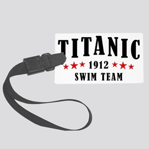 Titanic 1912 Swim Team Red and B Large Luggage Tag