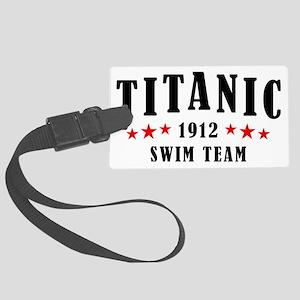 Titanic 1912 Swim Team Red and B Large Luggage Tag