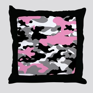 PINK CAMO IPAD CASE Throw Pillow