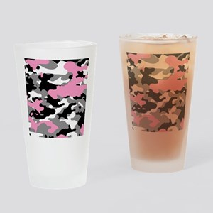 PINK CAMO IPAD CASE Drinking Glass
