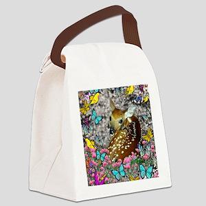 Bambina Fawn Butterflies Canvas Lunch Bag
