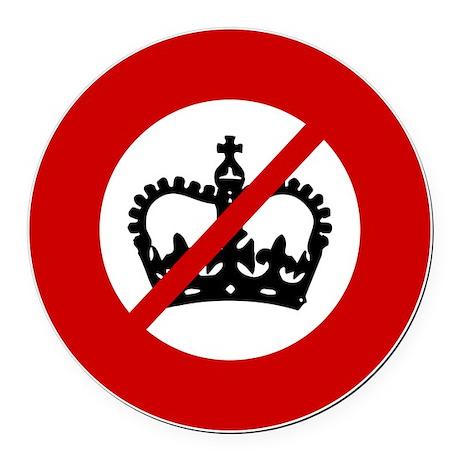 no-crowns Round Car Magnet