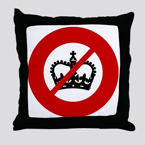 no-crowns Throw Pillow