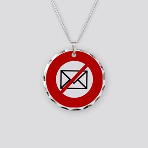 no-email Necklace Circle Charm