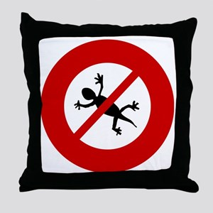 no-geckos Throw Pillow