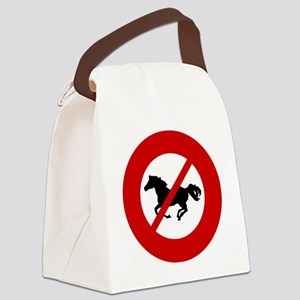 no-horses Canvas Lunch Bag