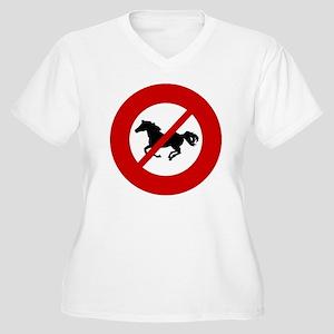 no-horses Women's Plus Size V-Neck T-Shirt