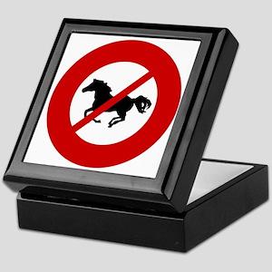 no-horses Keepsake Box