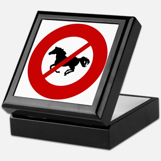 no-horses Keepsake Box