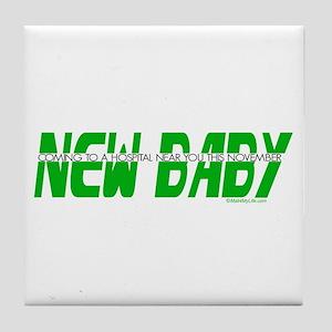 New Baby- November Tile Coaster