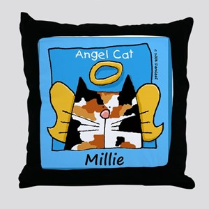 CALICOangelcat copy Throw Pillow