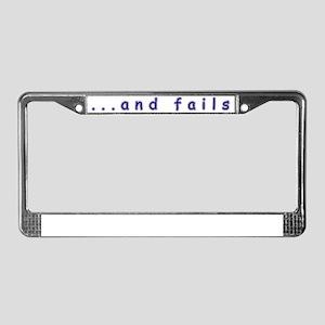 comicsansback License Plate Frame