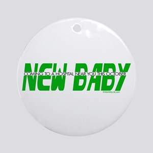 New Baby- October Ornament (Round)