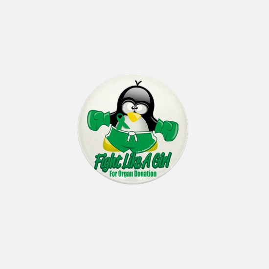Organ-Donation-Fighting-Penguin Mini Button