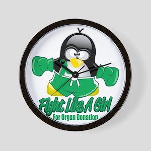 Organ-Donation-Fighting-Penguin Wall Clock
