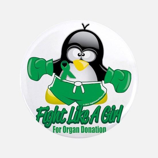 "Organ-Donation-Fighting-Penguin 3.5"" Button"