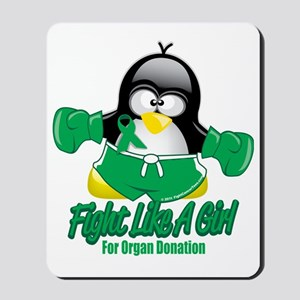 Organ-Donation-Fighting-Penguin Mousepad