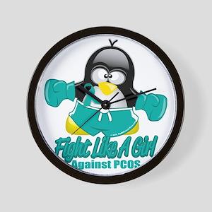 PCOS-Fighting-Penguin Wall Clock