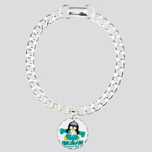 OCD-Fighting-Penguin Charm Bracelet, One Charm