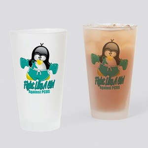 PCOS-Fighting-Penguin Drinking Glass