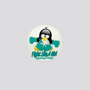 PCOS-Fighting-Penguin Mini Button
