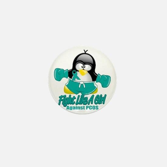 PCOS-Fighting-Penguin Mini Button