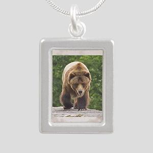 tile-grizzly-1 Silver Portrait Necklace