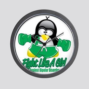 Bipolar-Fighting-Penguin Wall Clock