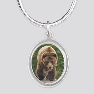 tile-grizzly-1 Silver Oval Necklace