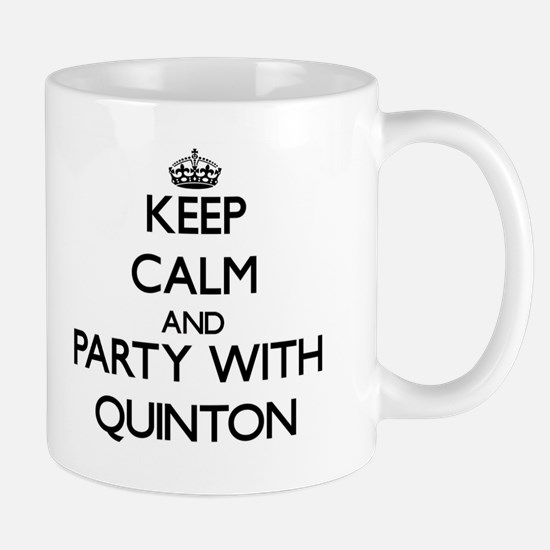 Keep Calm and Party with Quinton Mugs