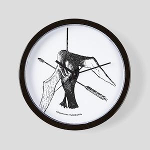albatross with arrow (lite) (url) Wall Clock