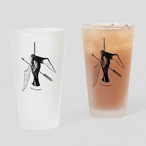 albatross with arrow (lite) (url) Drinking Glass